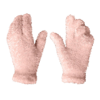 Ladies Pale Pink Feather Gloves