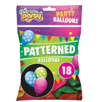 Patterned Balloons 18pk