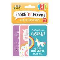 Fresh 'n' Funny Car Air Freshener 3pk