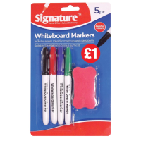 Whiteboard Marker 4pk with Sponge
