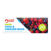 Slide Lock Food & Freezer Bags 20pk Small