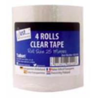 Clear Tape (25m) 4 Rolls (OC)