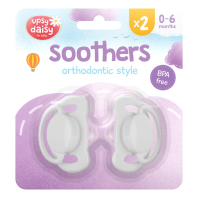 Silicone Soothers 0-6 months 2pk