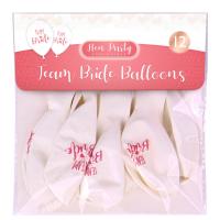 Team Bride Balloons 12pk