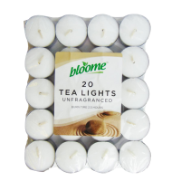 Unfragranced White Tea Lights 20pk