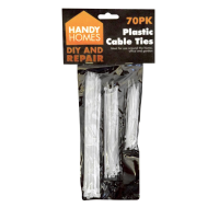 Plastic Cable Ties 70pk