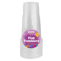 Plastic Pint Tumblers 12pk