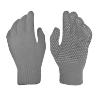 Boys Gripper Gloves 1 Pair - Grey