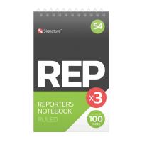 Reporter Pad 50 sheets 3pk