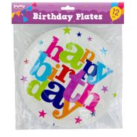 Birthday Plates 12pk