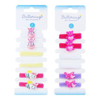 Girls Assorted Fun Hair Bands 6pk (2 styles m