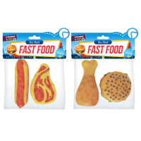 Dog Squeaky Fast Food 2pk