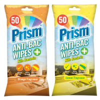 Prism Antibacterial Cleaning Wipes 50pk