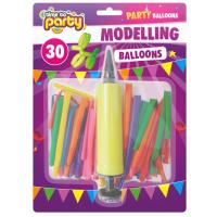 Modelling Balloons 30pk & Pump