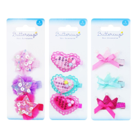 Hearts, Stars & Crowns Assorted Girls Hair Cl