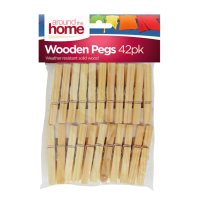 Wooden Clothes Pegs 42pk